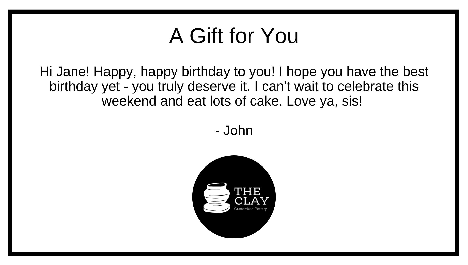 Gift Note Ex